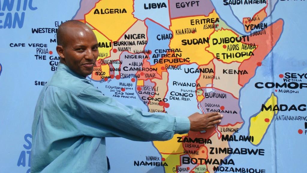 Painted Map of Tanzania